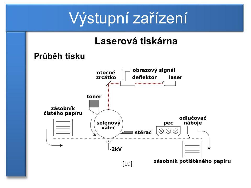 Výstupní zařízení Laserová tiskárna Průběh tisku [10]